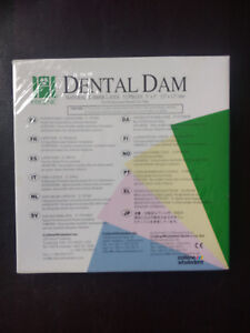 Coltene Hygenic Dental Dam Medium Natural Rubber Latex 52 Pieces 5 x5 Blue