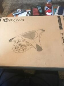 Polycom Soundstation 2 2201 16200 601 W Display And Microphones