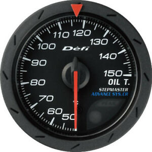 Defi Advance Cr Oil Temperature Meter gauge 52mm Black Dial celcius Df08302