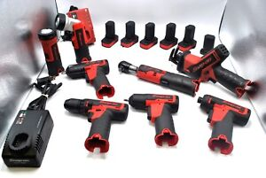 16 Snap on Cordless Tools 1 4 3 8 Impacts Ratchet Saw Driver Drill 6 Batteries