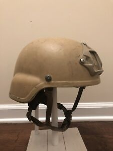 MSA MICH TC2000 Ballistic Helmet 3-Hole Warcom LARGE Ops Core Navy SEAL NSW ACH