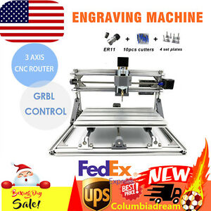 Mini Diy Usb 2417 Cnc Router Kit Metal Engraver Pcb Milling Machine Desktop Hot