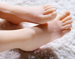 New Lifesize Realistic Silicone Foot Mannequin Fetish 1 Pair Jewelry Display 42