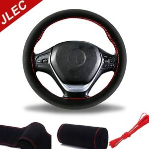 38cm Universal Pu Leather Car Steering Wheel Cover Grip Wrap Protector Bmw Ford