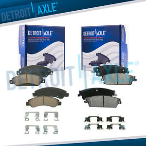 Front Rear Ceramic Brake Pads Hardware For Escalade Avalanche Silverado Tahoe