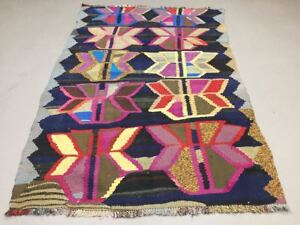 Colourful Old Turkish Kilim Rug Shabby Vintage Antique Kelim 152x106cm Me