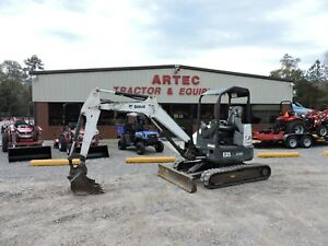 2014 Bobcat E35 Excavator 2 Speed Travel Front Blade Good Condition