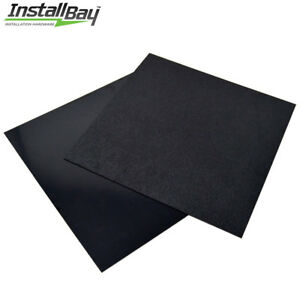 2 Pack Abs Plastic Textured Plastic Sheet 12in X 12in X 3 16in Black Smooth