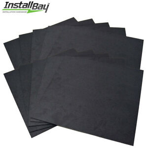 10 Pack Abs Plastic Textured Plastic Sheet 12in X 12in X 3 16in Black Smooth