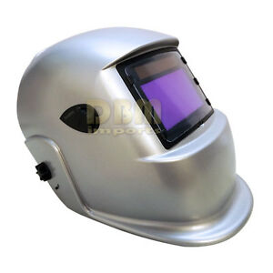 Sliver Welding Helmet Welder Large View Head Face Protection Solar Auto Darken