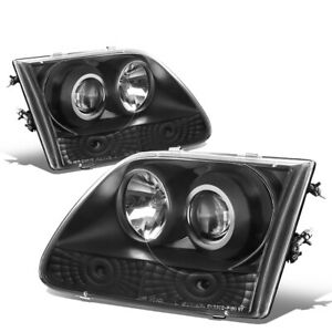 Fit 1997 2004 Ford F150 f250 expedition Black Housing Blue Projector Headlight