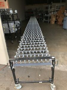 Best Flex 200 Flexible Gravity Wheel Conveyor Belt 24 Wide Expands To 37 Metal