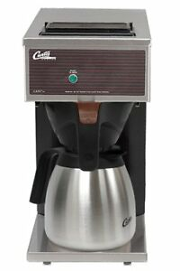 Wilbur Curtis Commercial Pourover Coffee Brewer 64 Oz Low Profile Thermal Carafe