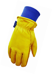 Wells Lamont Water Resistant Very Warm Leather Work Gloves Thinsulate Insulated