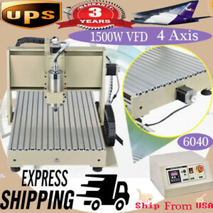 1500w 4 Axis Cnc Router 6040 Engraver Engraving Milling drilling Machine Cutter