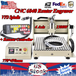 4 Axis Cnc 6040 Router Engraver Milling Engraving Machine controller 1 5kw Sales