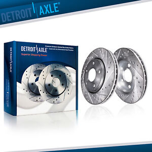 Front Drilled Slotted Brake Rotors For 2003 2004 2012 Honda Accord Coupe Sedan