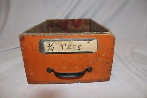 Vintage Winchester Dove Tail Wood Box Tongue And Grove Old Desk Drawer