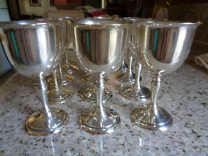 Vintage Webster Sterling Silver Small Goblet Set Of 12