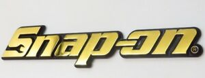 24ct Gold Plated Snap On Tool Box Roll Cabinet Badge Sticker 24k