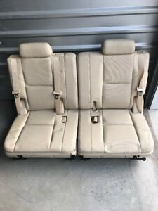 2007 2014 Factory 3rd Row Seats Cashmere Leather Tahoe Suburban Yukon Cadillac
