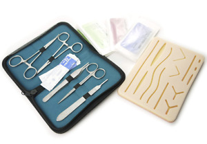 Complete Suture Practice Kit For Suture Training Human Like Large Silicone Pad