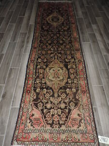 3x11ft Semi Antique Persian Malayer Wool Runner