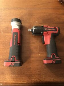 Snap on 14 4 V 3 8 Drive Cordless Impact And Light With 2 Batteries And Charger