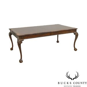 Henredon Rittenhouse Square Coll Mahogany Chippendale Ball Claw Dining Table