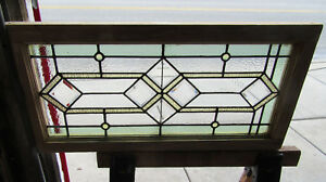 Antique Stained Beveled Glass Transom Window 2 Of 2 35 X 18 Salvage