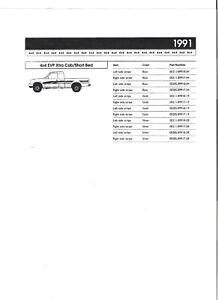 1991 Gold Toyota Truck 4x4 Stripes Oem 1991 Pickup Decal New From Dealer N o s