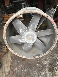 Dayton Granger 3c412 Spray Booth Tubaxial Exhaust Fan 30 Inch Tube 220v 3 Phase