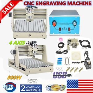 4 Axis Cnc 3040 Router Engraver Engraving Milling drill Machine 800w Motor Usb