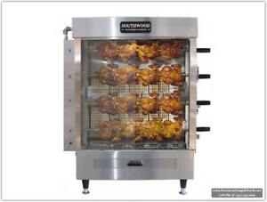 Southwood Rg4 20 chicken Gas ng lp Heavy duty Rotisserie Machine