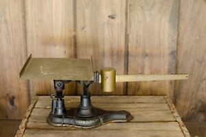 Antique Cast Iron Brass Buffalo Mercantile Scale General Store Sealed Indiana