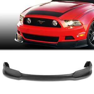 Fit 2013 2014 Ford Mustang Gt Style Abs Front Bumper Lip Lower Spoiler Body Kit