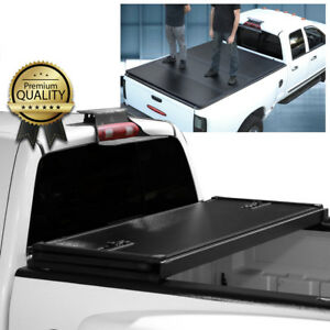 For 2014 2018 Toyota Tundra 8 Ft 96 Long Bed Solid Hard Tri fold Tonneau Cover