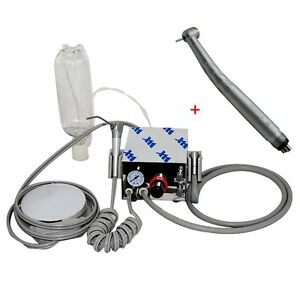 Portable Dental Turbine Unit Air Compressor 4h Fast Speed Handpiece Push 3w 4h