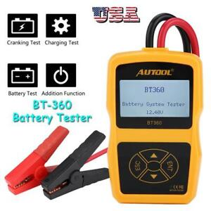 Bt 360 Dc 12v Vehicle Battery System Tester Car Charging Test Analyzer Us