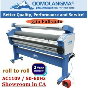 Upgraded Qomolangma 55 Full auto Wide Format Cold Laminator With Heat Assisted