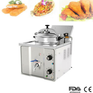 16l Electric Pressure Fryer 2 4kw Cooking Countertop 50 200 Fish Chicken Hotel
