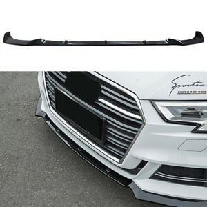 For 2017 2018 Audi A3 S3 Front Bumper Spoiler Chin Lip Gloss Black Painted Abs