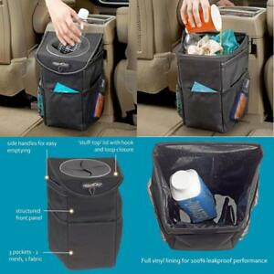 Auto Car Trash Can Garbage Bag With Lid For Litter Car Storage Holder Organizer