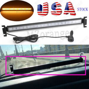 1 Car Windshield 80 Led Strobe Light Flashing Warning Emergency Lamp Red Blue Us