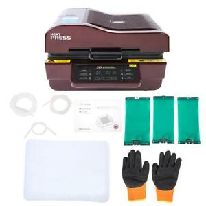 3d Digital Heat Press Transfer Printing Sublimation Machine Set Kit T shirt 110v
