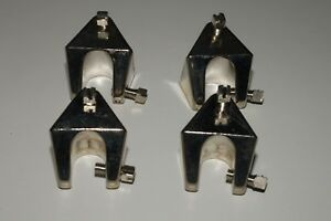 Lot Of 4 S connectors For Laboratory Frames And Clamps 0 To 0 5 Diameter