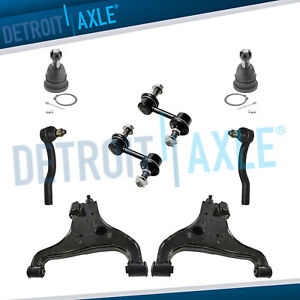 8pc Front Lower Control Arms Tierods Sway Bars For Nissan Titan Armada Qx56