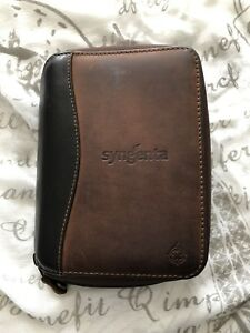 Franklin Covey Compact Planner Full Grain Leather Agenda Binder Brown Usa Made
