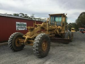 1962 Caterpillar 12e Motor Grader W Cab Good Running Older Machine