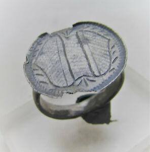 Beautiful Medieval Heraldic Silver Ring Authentic Wearable Artefact